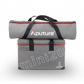 Aputure Light Strom LS-mini 20 DDC Flight Kit 3 PCS with Light Stand - Black - 7