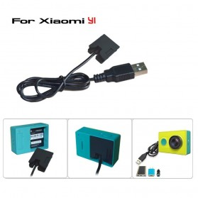 Xiaomi Yi Dummy Battery Eliminator Adapter USB Cable Power - Black