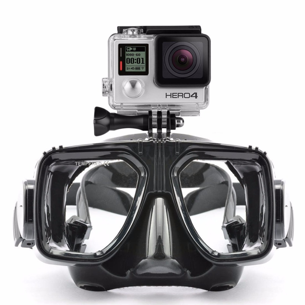 Xiaomimi Anti-Fog Diving Goggles for Action Camera - Black - 2