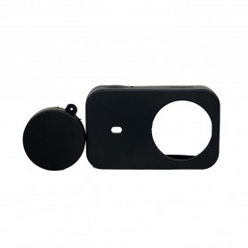 XBERSTAR Silicon Case & Lens Cap for Xiaomi Yi 2 4K - EGHA085 - Black