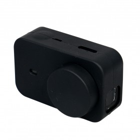 XBERSTAR Silicon Case & Lens Cap for Xiaomi Yi 2 4K - EGHA085 - Black - 9