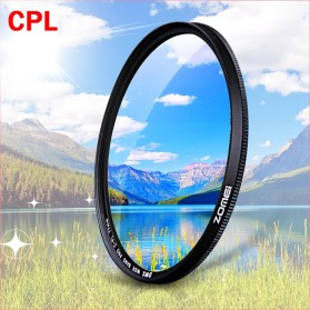 Zomei CPL Polarizer Filter Lens DSLR 58mm - Black