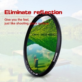 Zomei CPL Polarizer Filter Lens DSLR 58mm - Black - 3
