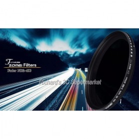Zomei Variable ND Filter Fader Lens DSLR ND2-400 49mm - 8