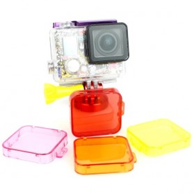 TMC Under Sea Filter Cover for GoPro HD Hero 3+ - HR121 - Purple