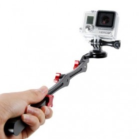 TMC 3 Way Foldable Pocket Stabilizer Grip Monopod for GoPro - HR209 - Black