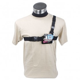 TMC Lightweight 3 Points Chest Belt for Gopro HD Hero 2/3/3+ & Xiaomi Yi / Xiaomi Yi 2 4K - Black