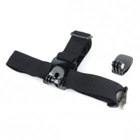 TMC Head Belt and Quickclip Set for GoPro / Xiaomi Yi / Xiaomi Yi 2 4K - HR169 - Black