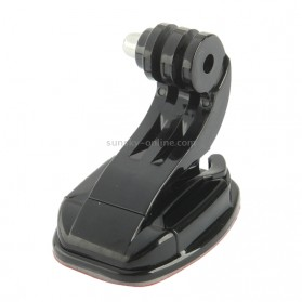 TMC Flat Mount and J-Hook Buckle with 3M Adhesive for GoPro / Xiaomi Yi / Xiaomi Yi 2 4K - HR77 - Black - 3