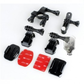 TMC Bike Helmet and Tube mount Set for GoPro / Xiaomi Yi / Xiaomi Yi 2 4K - HR199 - Black