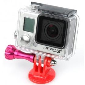 TMC Plastic Tripod Camera Mount Adapter for GoPro / Xiaomi Yi / Xiaomi Yi 2 4K - HR61 - Black - 4
