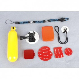 Floating Handlebar Grip Board Mount Surf Snowboard for GoPro 3/3+/4 & Xiaomi Yi/Xiaomi Yi 2 4K - Yellow