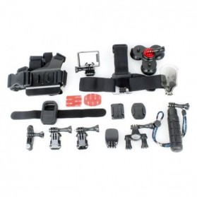 TMC 15 in 1 Full Accessories Set for GoPro 3/3+/4 - EBL009 - Black