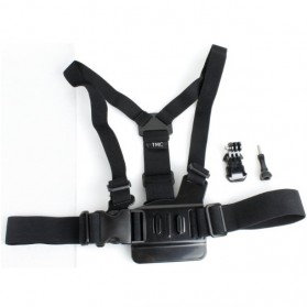 TMC Chest Harness Belt Strap with J-Hook Mount Set for GoPro / Xiaomi Yi / Xiaomi Yi 2 4K - EBL023 - Black