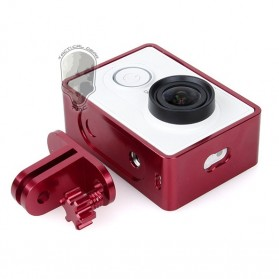 TMC Aluminium Side Frame for Xiaomi Yi Action Camera - HR285 - Red - 3