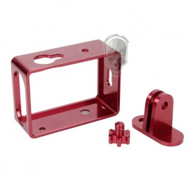 TMC Aluminium Side Frame for Xiaomi Yi Action Camera - HR285 - Red - 4