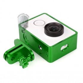 TMC Aluminium Side Frame for Xiaomi Yi Action Camera - HR285 - Green - 3
