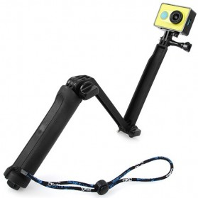 TMC 3 Way Foldable Extension Monopod Tripod for Xiaomi Yi / GoPro / Xiaomi Yi 2 4K - HR289 - Black