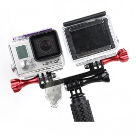 TMC Dual Mount for GoPro / Xiaomi Yi / Xiaomi Yi 2 4K - HR297-BK - Black - 2