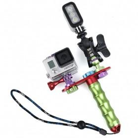TMC Aluminium Module Monopod with Ball Clip for Camera GoPro / Xiaomi Yi / Xiaomi Yi 2 4K - HR305