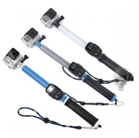 TMC Monopod Floating Extension Pole with Wireless Remote Control Slot 14-41 Inch - HR321 - White