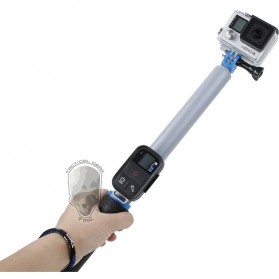 TMC Monopod Floating Extension Pole with Wireless Remote Control Slot 14-41 Inch - HR321 - White - 5