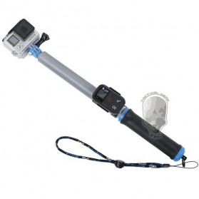 TMC Monopod Floating Extension Pole with Wireless Remote Control Slot 14-41 Inch - HR321 - Blue - 2