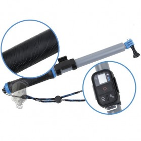 TMC Monopod Floating Extension Pole with Wireless Remote Control Slot 14-41 Inch - HR321 - Blue - 3