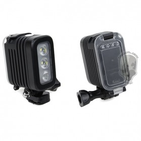 TMC Camera Headlight GoPro Compatible 3 Cree LED 280 Lumens - HR325 - Black - 2