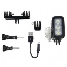 TMC Camera Headlight GoPro Compatible 3 Cree LED 280 Lumens - HR325 - Black - 7