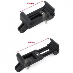 TMC Mobile Phone Retaining Clip Holder for Monopod - HR335 - Black - 2