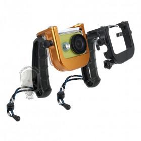 TMC P4 Trigger Handheld Grip CNC Metal Stick monopod Mount for Xiaomi Yi - Black - 4