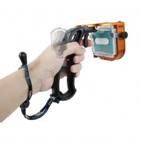 TMC P4 Trigger Handheld Grip CNC Metal Stick monopod Mount for Xiaomi Yi - Black - 8