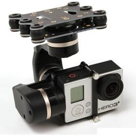 Feiyu Tech Mini 3D Gimbal 3-Axis for GoPro/Xiaomi Yi/Yi 2 4K - Black