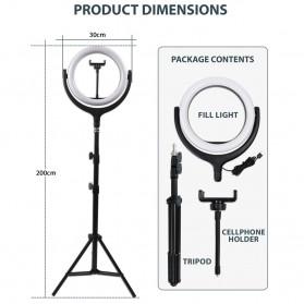 Remax Life Fill Ring Light Photo Studio Vlogging with Tripod - RL-LT17 - White - 10