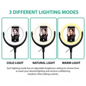Remax Life Fill Ring Light Photo Studio Vlogging with Tripod - RL-LT17 - White - 6