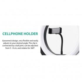 Remax Lampu Halo Ring Light Selfie 96 LED 10 Inch with Monopod + Smartphone Holder - RL-LT13 - White - 4