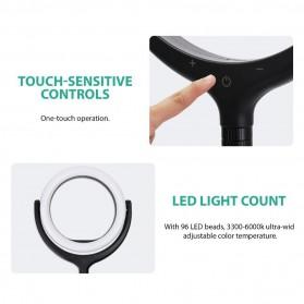 Remax Lampu Halo Ring Light Selfie 96 LED 10 Inch with Monopod + Smartphone Holder - RL-LT13 - White - 6