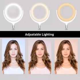 Remax Lampu Halo Ring Light Selfie 96 LED 10 Inch with Monopod + Smartphone Holder - RL-LT13 - White - 7