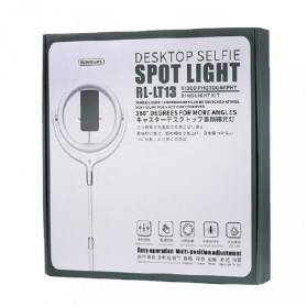 Remax Lampu Halo Ring Light Selfie 96 LED 10 Inch with Monopod + Smartphone Holder - RL-LT13 - White - 9