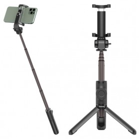 Action Camera, Camera, Tripod, Camera Case - Baseus Lovely Tongsis Tripod Selfie Stick with Bluetooth Shutter - SUDYZP-E01 - Black