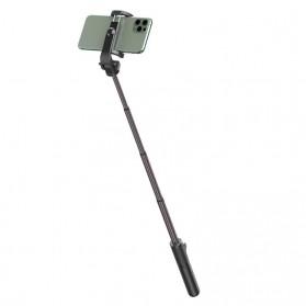 Baseus Lovely Tongsis Tripod Selfie Stick with Bluetooth Shutter - SUDYZP-E01 - Black - 3