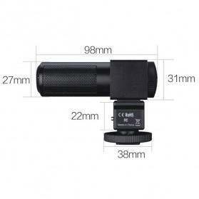 Takstar Condenser Shotgun DV Video Camcorder Microphone - SGC-698 - Black - 6