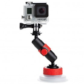 Joby Suction Cup and Locking Arm for Action Camera GoPro / Xiaomi Yi / Xiaomi Yi 2 4k - Black/Red