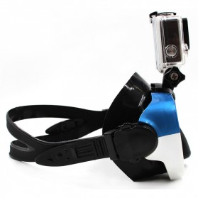 Telesin Kacamata Selam Diving Goggles Glass Mask with Detachable Tripod Mount for Xiaomi GoPro SJCAM - GP-DIV-GS2 - Blue - 2