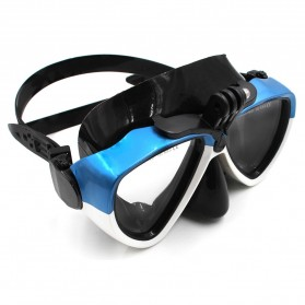 Telesin Kacamata Selam Diving Goggles Glass Mask with Detachable Tripod Mount for Xiaomi GoPro SJCAM - GP-DIV-GS2 - Blue - 3