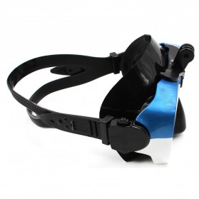 Telesin Kacamata Selam Diving Goggles Glass Mask with Detachable Tripod Mount for Xiaomi GoPro SJCAM - GP-DIV-GS2 - Blue - 4