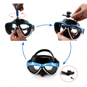 Telesin Kacamata Selam Diving Goggles Glass Mask with Detachable Tripod Mount for Xiaomi GoPro SJCAM - GP-DIV-GS2 - Blue - 5