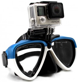 Telesin Kacamata Selam Diving Goggles Glass Mask with Detachable Tripod Mount for Xiaomi GoPro SJCAM - GP-DIV-GS2 - Blue - 7
