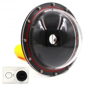 Telesin Dome Port Underwater Clear Photography 6 Inch Acrylic Base for Xiaomi Yi - Black